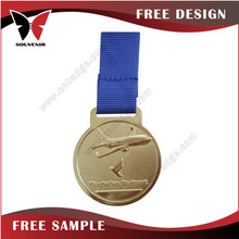 Sport souvenir use Sport souvenir use 3d plated gold with diamond metal medal new promotion gift for 2015