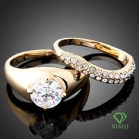 2PCS/set 18k gold new model wedding ring couple rings