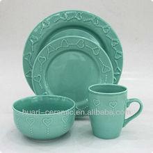 16pcs flower pattern ceramic easter dinnerware sets
