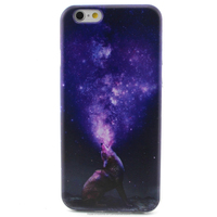 "Purple Pattern TPU Gel Case for Apple iPhone 6 4.7"" Skin Cover"