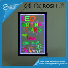 China market led flashboard advertising tempered glass edge-lit led writing board new innovation