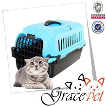 Colourful plastic dog carrier puppy cage portable cage