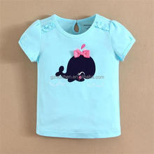 2015 baby clothes 100 combed cotton t shirts girl