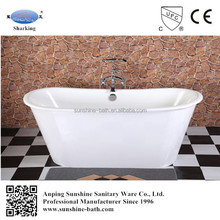 cast iron vintage double slipper coated soaking tub