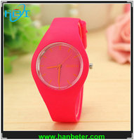 New fashion casual rubber band sport wrist watch for young people