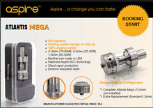 100% genuino Aspire Atlantis Mega con 0.3 / 0.5 / 1.0 ohm bobina interior