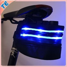 2015 hot sell new design bicycle saddle bag with led light