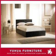 High Quality Bedroom Furniture Upholstered Leather Storage Bed Multiple Sizes