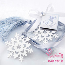 Unique Wedding Souvenir Party Favors and Gifts-Book Lovers Collection Snowflake Metal Bookmark Favors