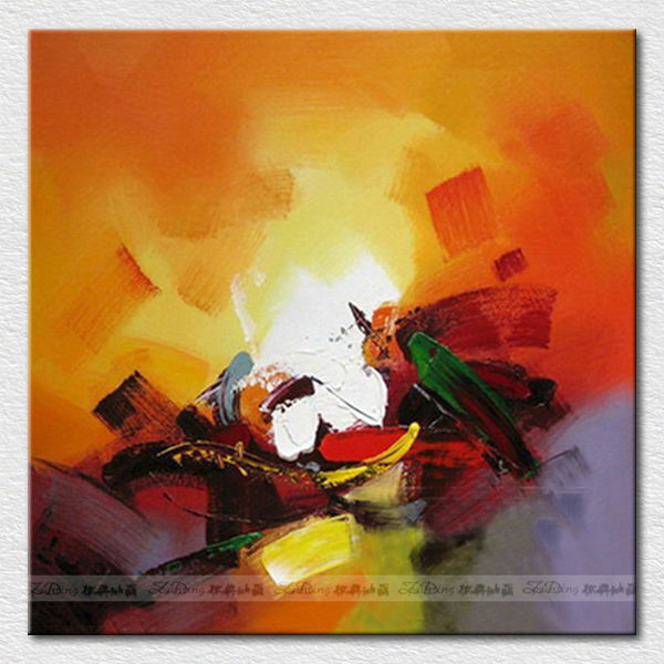 Wall art image de peinture l 39 huile abstraite pour h tel chambre peintur - Peinture abstraite a l huile ...