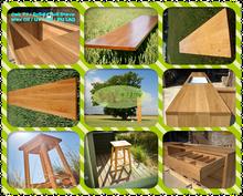 100% USA Oak, Natural Oak Hardwood Kitchen Worktop - Real Wood 3m