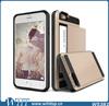 """Shockproof Hard Armor Hybrid Wallet Case Cover with Slide Card Slot Holder for iPhone 6 4.7"""""""