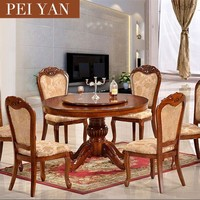 Cheap wood round dining table and chairs