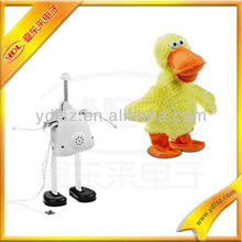 Stuffed Plush duck doll with sound module/music movemnt toy/duck animal plush toy doll
