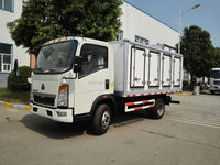 2-3tons Howo RHD light freezer trucks for sale/freezer refrigerator truck for hot sale/small refrigerated trucks