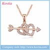 new gift items for 2016 arrow heart pendants 18k real gold jewelry necklace
