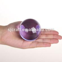 púrpura de cristal de vidrio magia bola de cristal bola de la venta de bolas de vidrio para la venta bola de cristal violeta