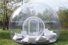 de la exposición al aire libre inflables de burbuja transparente de la tienda