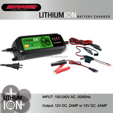 12V 2AMP/4AMP Automatic Car Motorcycle Lithium Ion Battery Charger Maintainer Li-ion battery charger