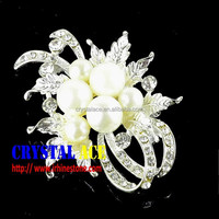 Small size jewelry rhinestone brooch pin,pearl brooch from China brooch manufacturer