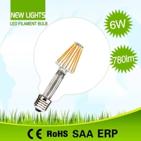 Lower energy consumption high efficiency 360 degree beam angle e27 led bulb filament 8w g125