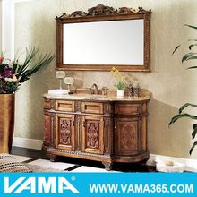 antique brown wash basin cabinet design with mirror oak bathroom vanities