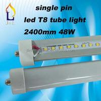 free shipping 8ft T8 LED Tube Light 48W 2835 SMD led tube light single pin G13