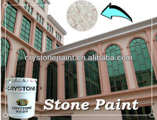 CRYSTONE A-011 waterborne coating exterior wall stone effect decorative paint by spray gun