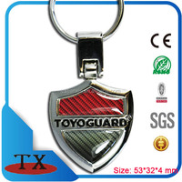 Promotional giveaway car brand name metal keychain holder as giveaway