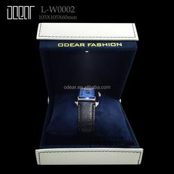 luxury pu leather man and woman led watch box