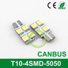 Wholesalers' factory t10 5w5 canbus car led auto bulb T10-4smd 5050 12v auto led bulbs