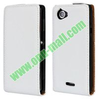Up and Down Smooth Texture leather cover case for sony xperia l s36h with best quality