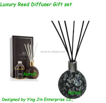 Luxury mosaic fragrance reed diffuser , gift box packing .