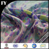 2015 Summer hot sale digital print wool polyester blend fabric