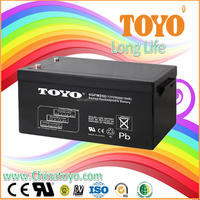 TOYO China Manufacturer and better supplier sealed lead acid rechargeable battery 12v250ah with quality guaranteed