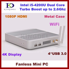 pc desktop i5 thin client , Metal Case, 4*U SB 3.0, ram+ ssd hdd,WiFi, BracketMount,3D Game Computer