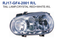 head lamp crystal red and white for VW GOLF4 98 02