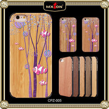 Set Drill Wood Water Proof Case For Iphone 5S