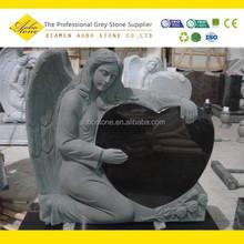 Angel granite heart shaped tombstone