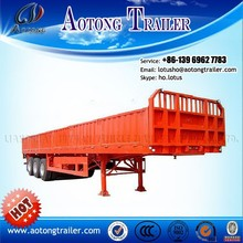 Hot Selling 2 or 3 Axle Side Fance Cargo Semi trailer For Animal Transportation