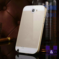 For samsung galaxy covers Aluminum metal bumper case for Samsung galaxy note2 II N7100