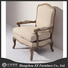 2015 new products antique style hand carved single wooden sofa chair