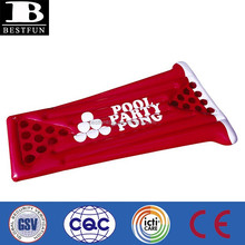 promotional custom made pvc inflatable red pool party pong water ping pong table beer pong table