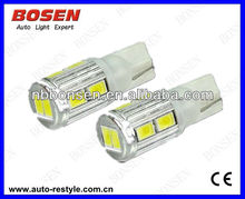 led auto bulb W5W T10 194 10smd 5630 side marker light,board light