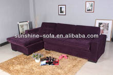 Modern Multifunctional Corner Fabric Sofa Bed Furniture With Two Storage