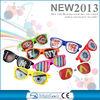 2014 Custom sunglasses ,custom flag logo pinhole sticker sunglasses ,nightclub party glasses