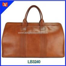 2015 new design travel bags genuine leather men custom golf travel bag