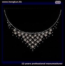 Collar pattern usd Rhinstone hot fix T-shirt, Neckline design