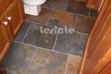 High-level rusty slate slab for floor
