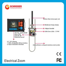 SCHRODER brand pipe drain sewer camera with laser ranging meter counter